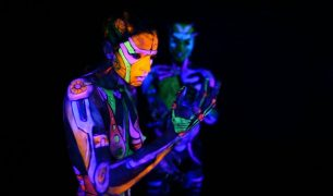 Adelaide Marcus and Akira Chan Global Consciousness video series spreads awareness neon